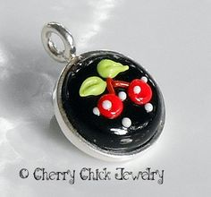 Cherry Lampwork Pendant @ Cherry Chick~ SOLD