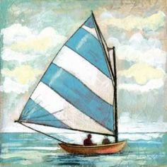 Sailboats I Canvas Art - Gregory Gorham (24 x 24)