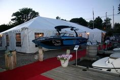 Tents at marina Outdoor Furniture, Outdoor Decor, Tents, Special Events, Boat, Gallery, Places, Frame, Teepees