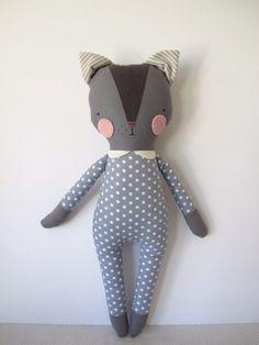 luckyjuju kitty girl  cat lovie  doll by luckyjuju on Etsy, $65.00