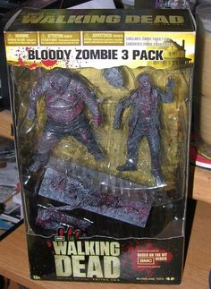 THE WALKING DEAD BLOODY ZOMBIE 3 PACK MCFARLANE TOYS ACTION FIGURE SET 2012   #McFarlaneToys