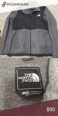 Gray north face Denali fleece zip up jacket Good condition soft gray Denali fleece jacket. North Face Jackets & Coats