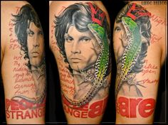 Jim Morrison tattoo   Lippo Tattoo
