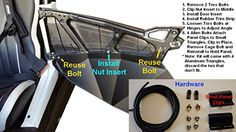 2014-2016 Polaris RZR XP 1000 XP1000 Lower Door Insert Panels
