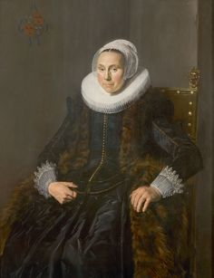 Frans Hals (c. 1582 - 1666), Portrait of Cornelia Vooght, 1631, oil on panel.