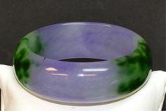 Green & Lavender Jade Bracelet