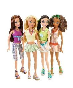 My Scene dolls.. Wasn't so hype about these but I still liked them