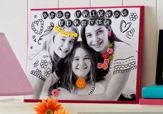 Best Friends Forever Plaque featuring new Mod Podge Mod Molds and Melts from Plaid and Cathie Steve Diy Mod Podge, Mod Podge Crafts, Party Crafts, Fun Crafts, Crafts For Kids, Diy Ideas, Craft Ideas, Decor Ideas, Mod Melts