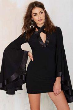 Nasty Gal Hollywood Cruisin' Bell Sleeve Dress