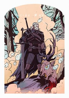 Geralt of Rivia, the Butcher of Blaviken Fantasy Characters, Witcher Art, Sketches, Character Design, Character Art, Game Art, Illustration, The Witcher, Art