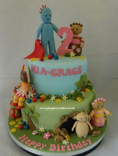 2 year old Birthday cake - In the NIght Garden 2 Year Old Birthday Cake, Garden Birthday Cake, Baby Girl Birthday Cake, 1st Birthday Cakes, 2nd Birthday Parties, Birthday Ideas, Celebration Cakes, Birthday Celebration, Garden Cakes