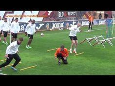 Ejercicios de fuerza de equipos profesionales de fútbol (At. Madrid, Bayern, PSG...) - YouTube