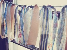 I absolutely love the idea of making use of scrap fabric. I have so much and never know what to make with it. This would be ideal for birthd. Scrap Fabric, Fabric Scraps, Fabric Garland, Western Theme, What To Make, Wedding Events, Weddings, Wardrobe Rack, Projects