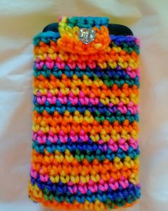 Crochet cell phone cover cell phone case by NMJCrochetCreations, $7.00