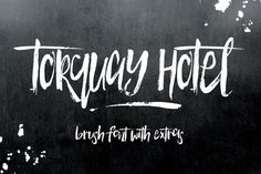 Torquay Hotel Brush Font by Creativeqube Design on Creative Market