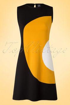 Mademoiselle Yeye Peggy Dress Black Yellow 106 10 15622 20150722 002W