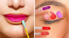 30 INCREDIBLE MAKEUP HACKS THAT WILL CHANGE YOUR LIFE 00's Makeup, Beauty Makeup Tips, Makeup Hacks, Beauty Hacks, Manicure Tips, Manicure At Home, Instagram Look, Lotion, Diy Clothes Life Hacks