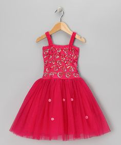 Another great find on #zulily! Fuchsia Maya Dress - Toddler & Girls by Fairy Dreams #zulilyfinds