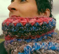 mis creaciones...: Cuello de lana realizado  en crochet