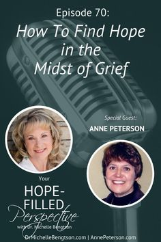 My guest, Anne Peterson, knows pain and loss. She experienced miscarriage, the murder of her sister (a victim of domestic violence), and the death of close family members including her infant grandchild. In this podcast, she shares how she finds hope in the midst of grief. #grief #griefandloss #hope #death Depression Recovery, Overcoming Depression, Overcoming Anxiety, Depression Quotes, Anxiety Causes, Anxiety Remedies, Bible Verses About Fear, Youversion Bible, Signs Of Anxiety