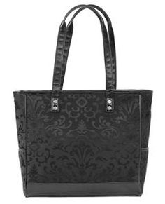 Cindy Tote in Black Parisian Jacquard! my interview bag!