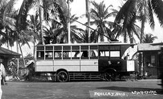 TROLLEY BUS IN SINGAPORE - 1930