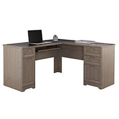 Ameriwood Home Pursuit Executive Desk Light BrownGray