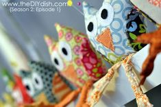 Wise Owls Pincushions - video tutorial with pattern