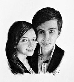 Kresba mladé dvojice