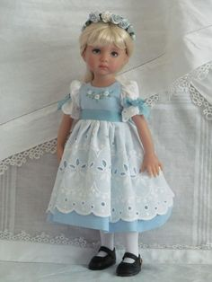 "13"" Effner Little Darling BJD fashion blue  white OOAK set handmade by JEC"