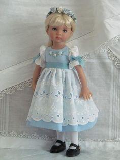 "13"" Effner Little Darling BJD fashion blue  white OOAK set handmade by JEC"
