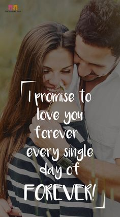 Making a promise is an act of true love that really shows how far you'll go to make your love shine bright. Here's a list of 10 beautiful and heartfelt love promise quotes that could help you express and commit to a life of love and happiness. Love Promise Quotes, Happy Promise Day, Love Husband Quotes, Love Quotes For Her, Cute Love Quotes, Romantic Love Quotes, Love Yourself Quotes, Love Poems, Romance And Love