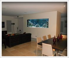 Would love to have a fish tank in the wall.