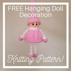 Christmas Tree Knitting Pattern, Owl Knitting Pattern, Knitting Dolls Free Patterns, Knitted Dolls Free, Knitting Yarn, Free Knitting, Knitted Baby, Knitting Toys Easy, Dog Pattern