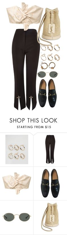 """Untitled #10637"" by nikka-phillips ❤ liked on Polyvore featuring ALDO, Topshop, MANGO, Gucci, Ray-Ban and Yves Saint Laurent"