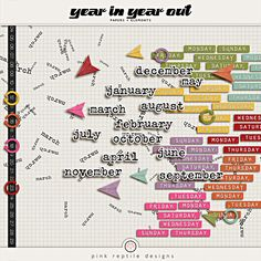 Year In Year Out | digital scrapbooking kit