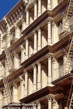 Cast Iron Facade, Soho ....... The ornate cast iron facade of a Soho loft building, New York City