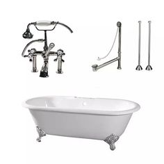 Randolph Morris 66 Inch Cast Iron Double Ended Clawfoot Tub Package