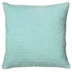 Rizzy Home 20 Inch Solid Throw Pillow