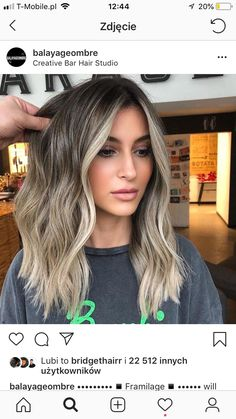 20 Cute and Easy Blonde Balayage Hairstyles – My hair and beauty Brown Hair Balayage, Hair Color Balayage, Hair Highlights, Ombre Hair, Haircolor, Cabelo Log Bob, Great Hair, Gorgeous Hair, Pretty Hairstyles