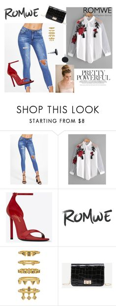 """""""Romwe I"""" by lugavicjasmina ❤ liked on Polyvore featuring Yves Saint Laurent and Luv Aj"""