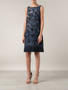 Elle Sasson Embroidered Tassel Dress - Capitol - Farfetch.com