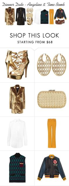 """Dinner Date #4"" by poopiemckaka ❤ liked on Polyvore featuring Balmain, GUESS, Michael Kors, Vetements, Corto Moltedo, Yves Saint Laurent, See by Chloé, Miu Miu, Gucci and Massimo Matteo"