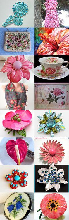 Spring Flowers - EcoChic Team Treasury by Carol Schick on Etsy--Pinned with TreasuryPin.com