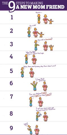 The 9 steps to making a new mom friend.