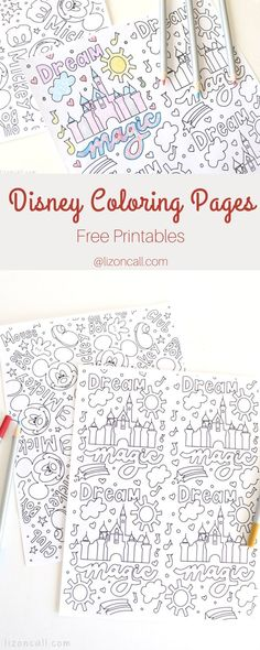 Free Disney Coloring Pages — Liz on Call Free Disney Coloring Pages, Printable Adult Coloring Pages, Free Coloring, Free Printable Art, Printable Activities For Kids, Disney Diy, Disney Crafts, Disney Printables, Free Printables