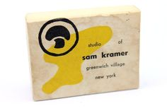 EXTREMELY RARE Vintage NYC Modernist Original SAM KRAMER'S Studio Jewelry Box #SamKramer