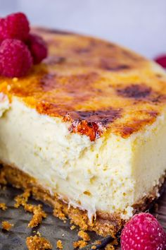 "Creme Brulee' Cheesecake! Grab Your Culinary Torch! It's Time to Stretch our Culinary Muscles! Two of my favorite go to desserts, cheesecake and creme brulee'.   In this fantastic recipe we  will combined both with a spicy ginger snap crust creating a true taste sensation and as they say, ""feel as if we have died and gone to heaven! "" 