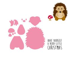 Collectables dies from Marianne Design feature cutting dies with matching clear stamps and 'layered' cutting dies designed for use with felt and paper. There are instructions for using the dies with the die cutting systems. This die set consists of seven dies and one coordinating clear stamp. The hedgehog measures approximately 50mm x 60mm.