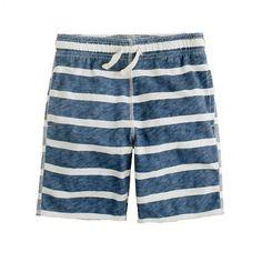 Boys' pull-on playtime short in seaside stripe